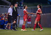 Boyds, MD - Saturday May 20, 2017: Mallory Pugh, Arielle Ship during a regular season National Women's Soccer League (NWSL) match between the Washington Spirit and FC Kansas City at Maureen Hendricks Field, Maryland SoccerPlex.