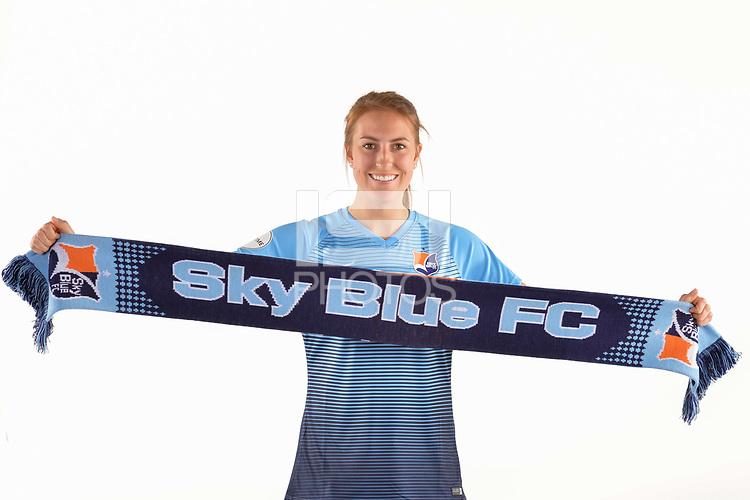 Belmar, NJ - Wednesday March 29, 2017: Sarah Killion poses for photos at the Sky Blue FC team photo day.