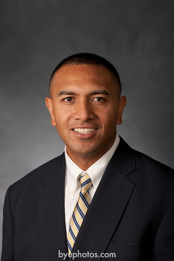 Kaufusi, Jason 09<br /> <br /> 1206-05 Athletic Department Portrait.<br /> Jason Kaufusi Football Graduate Assistant Mug<br /> <br /> June 7, 2012<br /> <br /> Photo by Elisa T. Adamson/BYU<br /> <br /> Copyright BYU Photo 2011<br /> All Rights Reserved<br /> photo@byu.edu  (801)422-7322