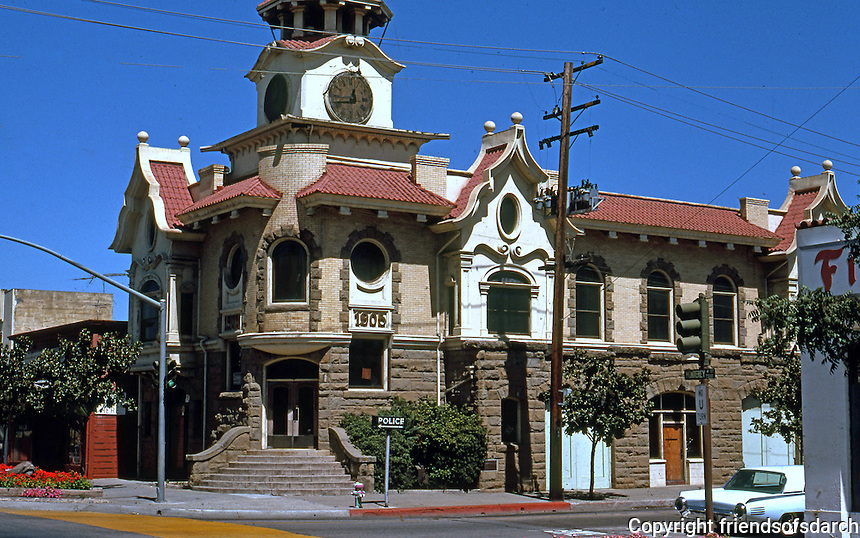 "Gilroy CA: Town Hall, 1905. Samuel Newsom (Carson House, Eureka). ""In the Mission Style""   Photo '78."