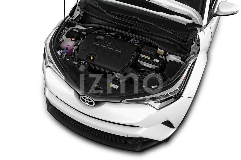 Car Stock 2019 Toyota C-HR Limited Door SUV Engine  high angle detail view