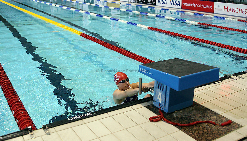 Photo: Paul Thomas..VISA Paralympic World Cup 2007. Swimming. 12/05/2007...Nyree Lewis of Great Britain.