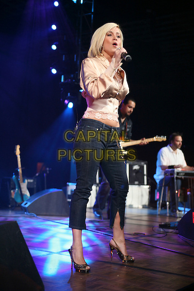 KELLIE PICKLER.The Academy of Country Music presents its fourth annual New Artists Show   featuring performances by Top New Artist' nominees held at the MGM Grand Ballroom in the MGM Grand Convention Center, Las Vegas, Nevada, USA,.14 May 2007 ..live in concert on stage gig full length black cropped trousers gold beige satin silk jacket top lace.CAP/ADM/BP.©Byron Purvis/AdMedia/Capital Pictures.