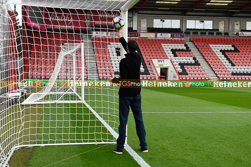 The goal line technology is testedduring AFC Bournemouth vs Middlesbrough, Premier League Football at the Vitality Stadium on 22nd April 2017