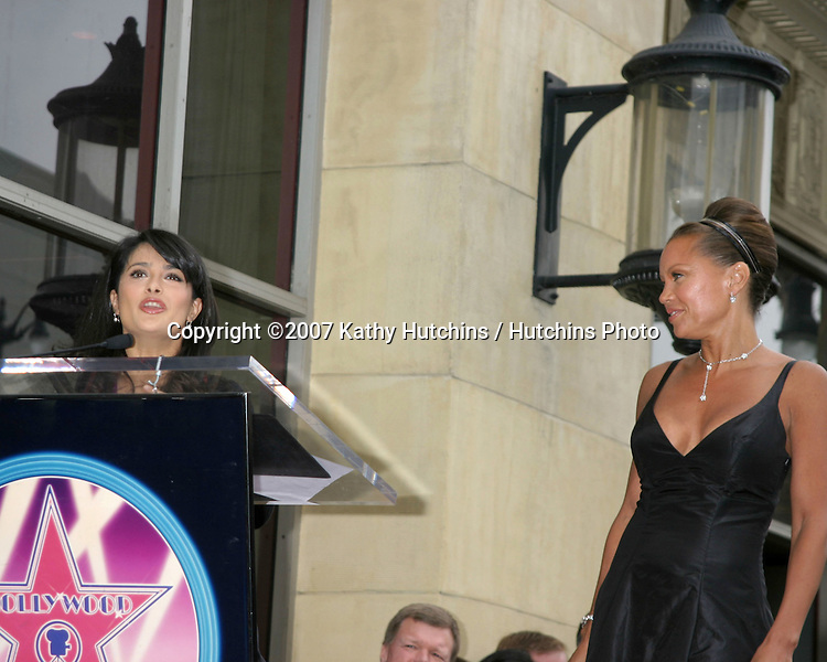 Salma Hayek & Vanessa L. Williams.Vanessa Williams receives a star on the Hollywood Walk of Fame.Los Angeles, CA.March 19, 2007.©2007 Kathy Hutchins / Hutchins Photo...
