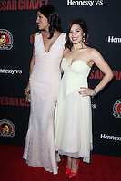 "HOLLYWOOD, LOS ANGELES, CA, USA - MARCH 20: Rosario Dawson, America Ferrera at the Los Angeles Premiere Of Pantelion Films And Participant Media's ""Cesar Chavez"" held at TCL Chinese Theatre on March 20, 2014 in Hollywood, Los Angeles, California, United States. (Photo by David Acosta/Celebrity Monitor)"