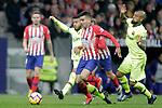 Club Atletico de Madrid's Angel Correa and Futbol Club Barcelona's  Malcom Filipe Silva and Arturo Vidal during La Liga match. November 24,2018. (ALTERPHOTOS/Alconada)