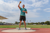 Tokyo 2020 - Preview / Cameron Crombie<br /> Athletics (field) training camp QLD at the BLK Athletics Centre - Runaway Bay QLD<br /> Friday 11 Oct 2019 Paralympics Australia<br /> © STL / Jeff Crow / Paralympics Australia