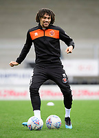 Blackpool's Nya Kirby during the pre-match warm-up<br /> <br /> Photographer Chris Vaughan/CameraSport<br /> <br /> The EFL Sky Bet League One - Burton Albion v Blackpool - Saturday 16th March 2019 - Pirelli Stadium - Burton upon Trent<br /> <br /> World Copyright &copy; 2019 CameraSport. All rights reserved. 43 Linden Ave. Countesthorpe. Leicester. England. LE8 5PG - Tel: +44 (0) 116 277 4147 - admin@camerasport.com - www.camerasport.com