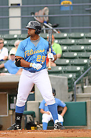 Michael Jones #29 of the Myrtle Beach Pelicans at bat during a game against the Lynchburg Hillcats on May 26, 2010 at BB&T Coastal Field in Myrtle Beach, SC.