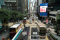 HONG KONG - MAY 06: A busy crossing in Central business district, on May 6, in Hong Kong. (Photo by Lucas Schifres/Pictobank)