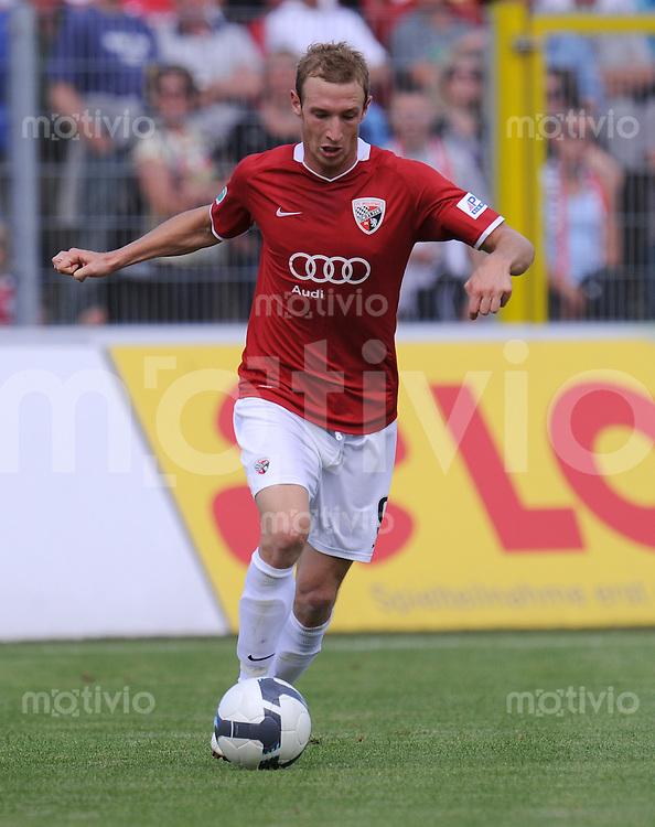 FUSSBALL     3. BUNDESLIGA     SAISON 2009/2010     25.07.2009 FC Ingolstadt - FC Bayern Muenchen 2 Moritz Hartmann (FC Ingolstadt )
