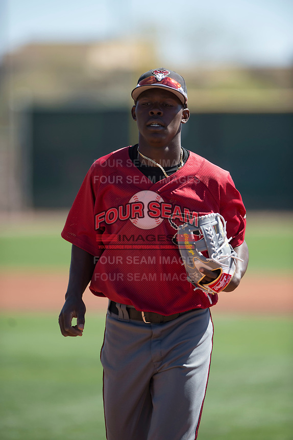 Arizona Diamondbacks shortstop Jasrado Chisholm (2) during a Minor League Spring Training game against the San Francisco Giants at Salt River Fields at Talking Stick on March 28, 2018 in Scottsdale, Arizona. (Zachary Lucy/Four Seam Images)