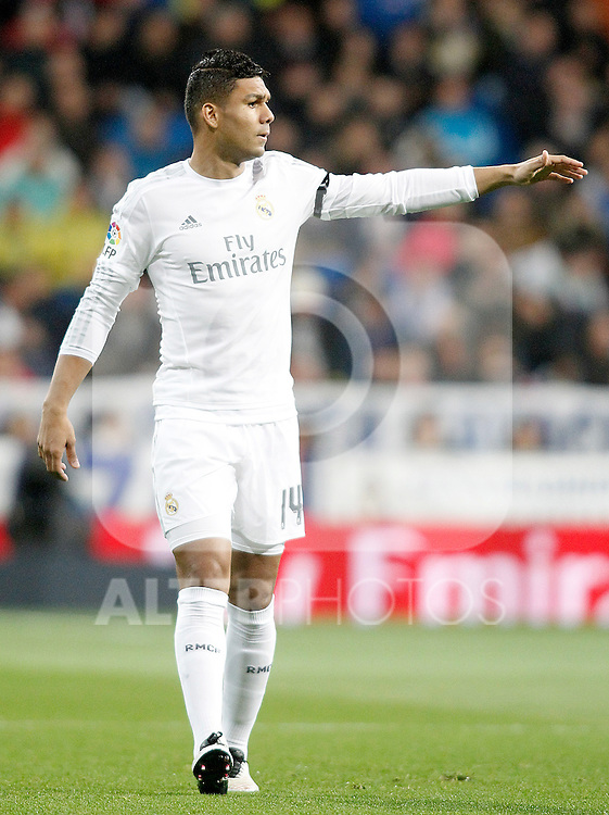 Real Madrid's Carlos Henrique Casemiro during La Liga match. April 20,2016. (ALTERPHOTOS/Acero)