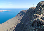 Chinjo archipelago natural park, Lanzarote, Canary Islands, Spain view from El Mirador del Rio