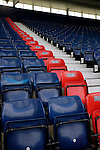 A view of red seats installed by West Bromwich Albion FC to show support for the victims of the Hillsborough tragedy, before the Barclays Premier League match at The Hawthorns. Photo credit should read: Malcolm Couzens/Sportimage