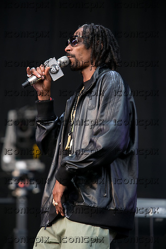 Snoop Dog (aka Snoop Lion) - performing live at  the Yahoo Wireless Festival held at The Queen Elizabeth Olympic park in London UK - 12 Jul 2013.  Photo credit: Helen Boast/Music Pics Ltd/IconicPix