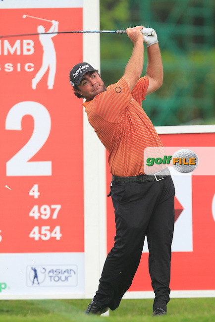 Steven Bowditch (AUS) on the 12th tee during Round 3 of the CIMB Classic in the Kuala Lumpur Golf &amp; Country Club on Saturday 1st November 2014.<br /> Picture:  Thos Caffrey / www.golffile.ie