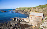 Lifeboat Station built in 1859, Polpeor Cove, Lizard Point, Cornwall, England