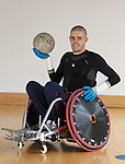 Team GB Paralympian wheelchair rugby player Mike Kerr during a training session at the Palace of Art in Govan, Glasgow