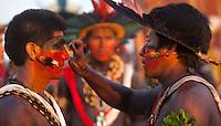 Ao todo, 24 etnias nacionais e povos de 23 países representarão os indígenas de todo o mundo, . Todas as etnias foram selecionadas pelo Comitê Intertribal Memória e Ciência Indígena (ITC), que vem usando como critério, desde as edições nacionais, a conservação dos costumes de cada etnia, o idioma, as crenças, os ritos, as pinturas corporais, a música e os esportes tradicionais dos povos.<br /> Palmas, Tocantins, Brasil.<br /> Foto Marcello Lourença/Acervo h<br /> out/2015