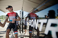 Fr&auml;nk Schleck (LUX/Trek Factory Racing) interviewed post-race<br /> <br /> 2014 Tour de France<br /> stage 11: Besan&ccedil;on - Oyonnax (187km)
