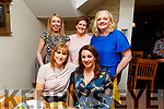 Siobhan Sheehy and Siobhan Foley double birthday celebrations in Bella Bia on Saturday night.<br /> L to r: Siobhan Sheehy from Ballyheigue and Siobhan Foley (Abbeydorney).<br /> Back l to r: Tina O'Connell, Sinead Reidy and Brid Diggin.