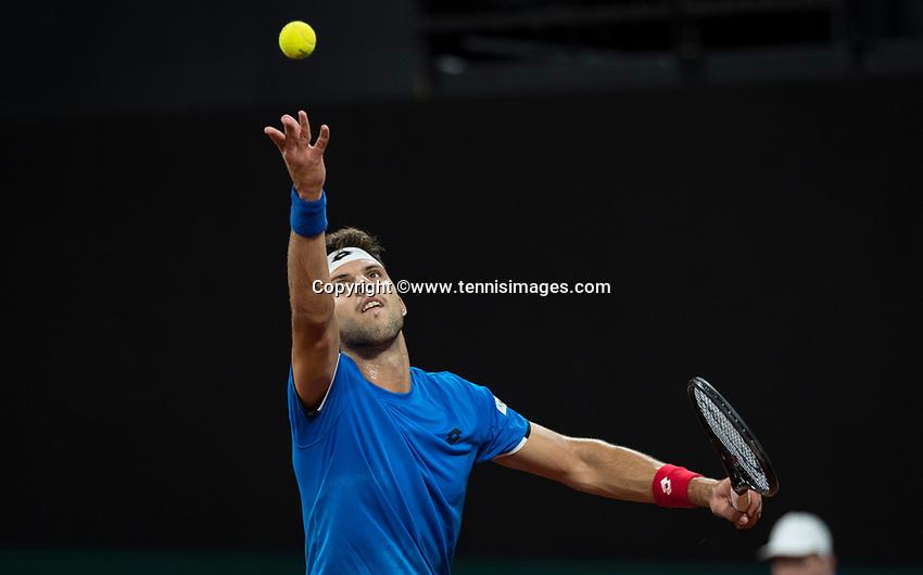 The Hague, The Netherlands, September 15, 2017,  Sportcampus , Davis Cup Netherlands - Chech Republic, <br /> Photo: Tennisimages/Henk Koster