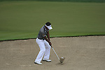 Thongchai Jaidee plays his 3rd shot from a bunker at the 8th green during Day 2 Friday of the Abu Dhabi HSBC Golf Championship, 21st January 2011..(Picture Eoin Clarke/www.golffile.ie)