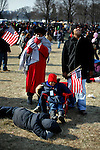 Obama supporters during his inauguration
