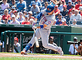 New York Mets right fielder Michael Conforto (30) bats in the first inning against the Washington Nationals at Nationals Park in Washington, D.C. on Wednesday, September 4, 2019. <br /> Credit: Ron Sachs / CNP<br /> (RESTRICTION: NO New York or New Jersey Newspapers or newspapers within a 75 mile radius of New York City)