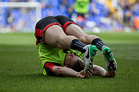 Harry Arter of Bournemouth warms up for the Premier League match between Tottenham Hotspur and Bournemouth at White Hart Lane, London, England on 15 April 2017. Photo by Mark  Hawkins / PRiME Media Images.