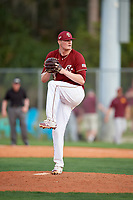 Boston College Eagles relief pitcher Matt Gill (34) delivers a pitch during a game against the Minnesota Golden Gophers on February 23, 2018 at North Charlotte Regional Park in Port Charlotte, Florida.  Minnesota defeated Boston College 14-1.  (Mike Janes/Four Seam Images)