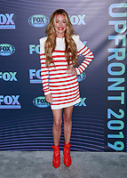 NEW YORK, NY - MAY 13: Cat Deeley at the FOX 2019 Upfront at Wollman Rink in Central Park, New York City on May 13, 2019. <br /> CAP/MPI99<br /> &copy;MPI99/Capital Pictures