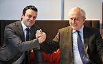 IHF- REPRO FREE HOTELIERS CONFERENCE KILLARNEY: .Welcome to the business son.... Killarney Hotelier Danny Bowe and his son Mark who started working together in The Castlerosse Hotel on Monday pictured at the IHF conference in The Malton Hotel, Killarney on Monday..Picture by Don MacMonagle...PR photo IHF