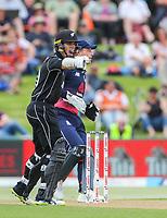 New Zealand's Mark Chapman, Black Caps v England, second international cricket ODI, Bay Oval, Tauranga, New Zealand. Wednesday, 28 February, 2018. Copyright photo: John Cowpland / www.photosport.nz