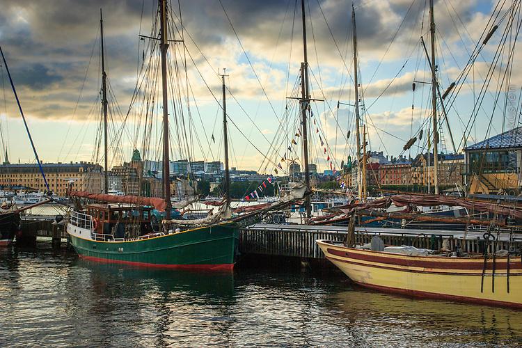 Skutor vid Galärparken på Djurgården i Stockholm