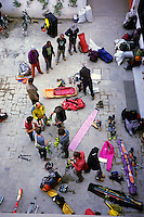 Sorting the expedition gear, Kathmandu, Nepal, 2008