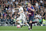 Real Madrid CF's Luka Modric and FC Barcelona's Arthur Melo  during La Liga match. March 02,2019. (ALTERPHOTOS/Alconada)