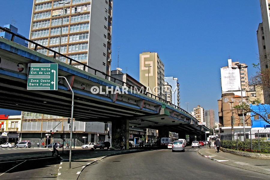 Rua Amaral Gurgel e Elevado Costa e Silva. São Paulo. 2007. Foto de Juca Martins.