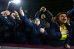 Visiting fans celebrating at the final whistle as Burnley hosted Everton in an English Premier League fixture at Turf Moor. Founded in 1882, Burnley played their first match at the ground on 17 February 1883 and it has been their home ever since. The visitors won the match 5-1, watched by a crowd of 21,484.