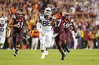 Landover, MD - September 3, 2017: Virginia Tech Hokies quarterback Josh Jackson (17) runs with the ball during game between Virginia Tech and WVA at  FedEx Field in Landover, MD.  (Photo by Elliott Brown/Media Images International)