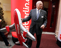 Air Berlin CEO Joachim Hunold poses prior to give a press conference in Rome, 12 april 2010..UPDATE IMAGES PRESS/Riccardo De Luca