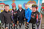 Pictured at the Fenit Coastal Cycle on Saturday were Brendan O'Connor (Camp) Tim Houlihan (Banna) John O'Connor (Camp), David Elton (Tralee) and Pearse Heaslip (Tralee)..