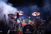 MEXICALI, MEXICO - June 8 Mexican rock & Roll band  Caifanes drumset on the stage on June 8, 2019 in Mexicali, Mexico.<br /> Tecate Location Mexicali 2019 is one of the main music festivals nationwide and in the state, Band line up<br /> CAIFANES, CAMILO VII, DRAKE BELL, LNG / SHT, SERBIA<br /> (Photo by Luis Boza/VIEWpress)