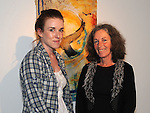 Orla Madden Clonalvy and Irene Bagnall Baltray pictured at the opening of the Song of Amergin art exhibition in the Highlanes gallery. Photo: www.pressphotos.ie