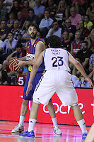 14.06.2013 Bacelona, Spain. Liga Endesa Play Off titulo. Picture show Juan Carlos Navarro in action during game betwen FC BArcelona v Real Madrid at Palau Blaugrana