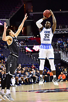 Washington, DC - MAR 11, 2018: Rhode Island Rams guard Jared Terrell (32) shoots an open jump shot during the Atlantic 10 men's basketball championship between Davidson and Rhode Island at the Capital One Arena in Washington, DC. (Photo by Phil Peters/Media Images International)