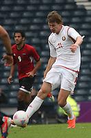 Men's Olympic Football match Egypt v Belarus on 1.8.12...Andrei Voronkov of Belarus, during the Men's Olympic Football match between Egypt v Belarus at Hampden Park, Glasgow.