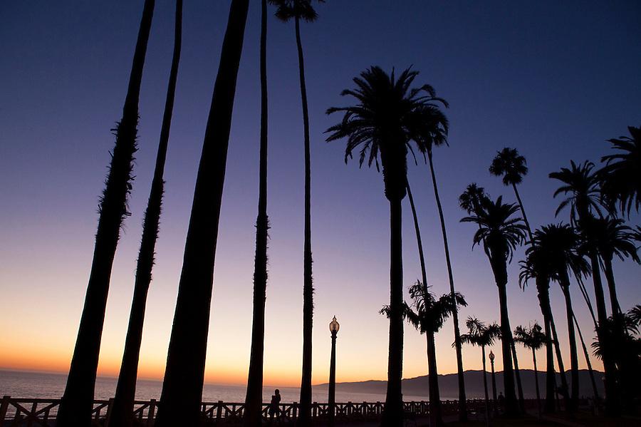 Sunset seen from Palisades Park, Santa Monica, California Santa Monica, California, CA, USA